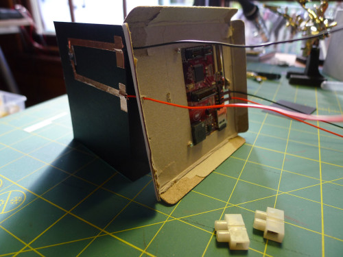 Microcontroller and wiring with conductive tape